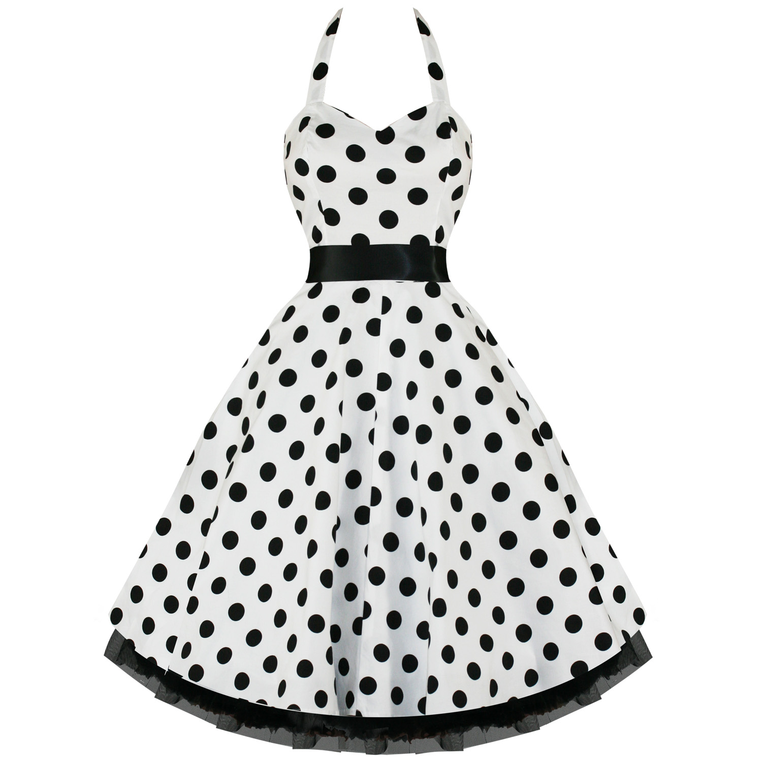 f482fc72e4 Details about RKH10 Hearts   Roses Polka Dots Rockabilly Dress Pin Up Vintage  50s Prom Swing